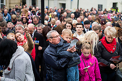 Barnsley crowds turn out in force for Remembrance Sunday Barnsley South Yorkshire despite the threat of bad weather<br /> <br />  08 October 2015<br />  Copyright Paul David Drabble<br />  www.pauldaviddrabble.co.uk