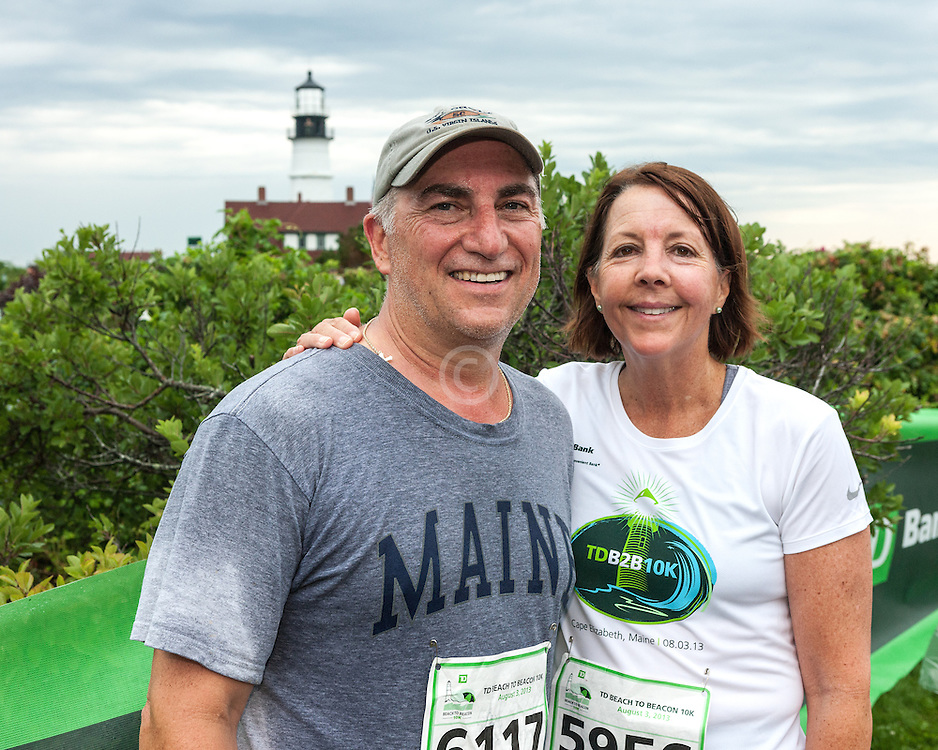 Beach to Beacon 10K road race: Chuck 6117 and Susan 5956
