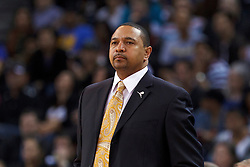 Mar 28, 2012; Oakland, CA, USA; Golden State Warriors head coach Mark Jackson on the sidelines against the New Orleans Hornets during the second quarter at Oracle Arena. New Orleans defeated Golden State 102-87. Mandatory Credit: Jason O. Watson-US PRESSWIRE