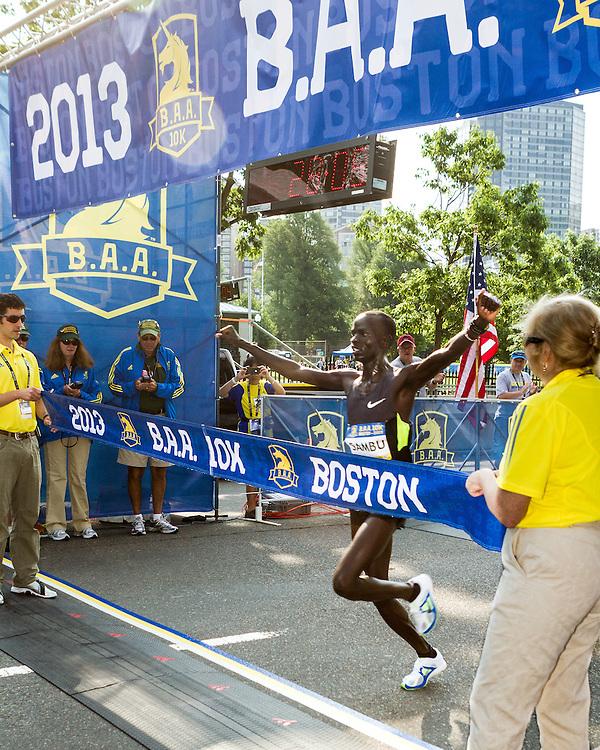 Stephen Sambu wins BAA 10K