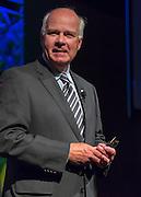 Peter Mansbridge, chief correspondent, CBC News, Canadian Broadcasting Corporation, delivers opening plenary at Canadian Bar Association 2013 Conference, Saskatoon, Saskatchewan.