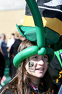 A Northampton saints fan before the LV Cup Final match at Sandy Park, Exeter<br /> Picture by Andy Kearns/Focus Images Ltd 0781 864 4264<br /> 16/03/2014