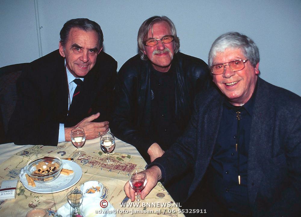 CD Uitreiking Eddy Christiani Hilversum, Cocktail Trio met Ad van der Gijn (links)