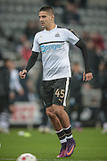 Aleksandar Mitrović (Newcastle United) before the EFL Cup 4th round match between Newcastle United and Preston North End at St. James's Park, Newcastle, England on 25 October 2016. Photo by Mark P Doherty.