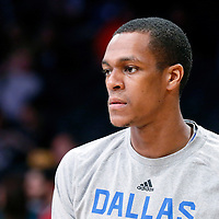 12 April 2014: Dallas Mavericks guard Rajon Rondo (9) warms up prior to the Dallas Mavericks 120-106 victory over the Los Angeles Lakers, at the Staples Center, Los Angeles, California, USA.