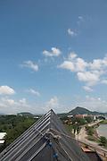 Avances de la construccion del Biomuseo de Panama. Primer edificio diseñado por Frank Gehry en America Latina. Panama, 28 de septiembre de 2012. (Victoria Murillo/Istmophoto)