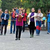 Seniors Exercising at Temple of Heaven in Beijing, China<br />