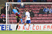 Scunthorpe United forward Ivan Toney (24) scores goal to go 2-0  during the EFL Sky Bet League 1 match between Scunthorpe United and Chesterfield at Glanford Park, Scunthorpe, England on 17 April 2017. Photo by Ian Lyall.