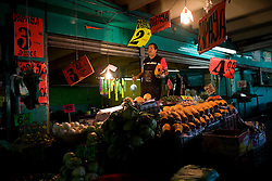 Workers at the Central de Abasto, Mexico's main fruit and vegetable market, on Tuesday, October 20, 2009, in Mexico City, Mexico.