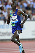 Paul Chelimo (USA) places eighth in the 5,000m in 13:14.18 in the IAAF Diamond League final during the Weltkasse Zurich at Letzigrund Stadium, Thursday, Aug. 29, 2019, in Zurich, Switzerland. (Jiro Mochizuki/Image of Sport)