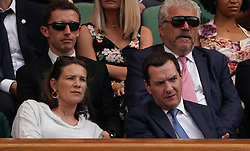 &copy; Licensed to London News Pictures.05/07/18.<br /> London, UK: The Wimbledon Lawn Tennis Championships at All England Lawn Tennis and Croquet Club<br /> George Osbourne watches <br /> Ladies singles - second round<br /> Johanna Konta (GBR) Loses to Dominika Cibulkova (svk)