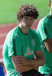 01.07.2015, Weserstadion, Bremen, GER, 1. FBL, SV Werder Bremen, Trainingsauftakt, im Bild Mateo Pavlovic beim Laktattest // during a Trainingssession of German Bundesliga Club SV Werder Bremen at the Weserstadion in Bremen, Germany on 2015/07/01. EXPA Pictures © 2015, PhotoCredit: EXPA/ Andreas Gumz<br /> <br /> *****ATTENTION - OUT of GER*****