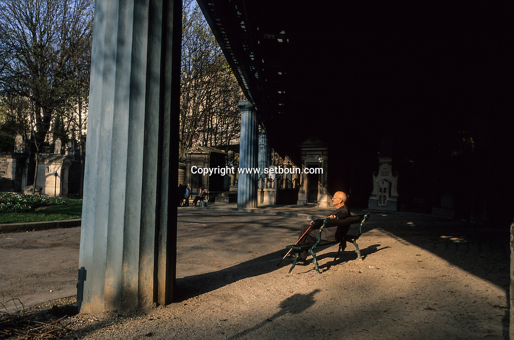 France. Paris. 18th district.  montmartre cemetery