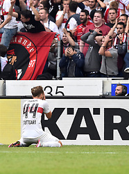 26.09.2015, Mercedes Benz Arena, Stuttgart, GER, 1. FBL, VfB Stuttgart vs Borussia Moenchengladbach, 7. Runde, im Bild Alexandru Maxim VfB Stuttgart nach vergebener Chance // during the German Bundesliga 7th round match between VfB Stuttgart and Borussia Moenchengladbach at the Mercedes Benz Arena in Stuttgart, Germany on 2015/09/26. EXPA Pictures © 2015, PhotoCredit: EXPA/ Eibner-Pressefoto/ Weber<br /> <br /> *****ATTENTION - OUT of GER*****
