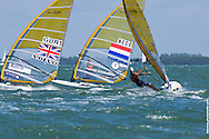 Men's windsurfing finals at the 2013 ISAF World Sailing Cup in Miami