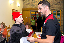 Bristol City Kit Manager Scott Murray signs autographs duringBristol City's visit to the Children's Hospice South West at Charlton Farm - Mandatory by-line: Robbie Stephenson/JMP - 21/12/2016 - FOOTBALL - Children's Hospice South West - Bristol , England - Bristol City Children's Hospice Visit