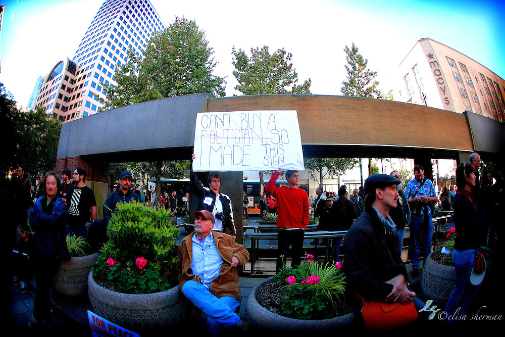 Occupy Seattle at Westlake Park 10-8-2011