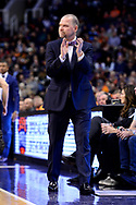 Jan 28, 2017; Phoenix, AZ, USA; Denver Nuggets head coach Michael Malone claps from the sidelines in the first half of the NBA game against the Phoenix Suns at Talking Stick Resort Arena. Mandatory Credit: Jennifer Stewart-USA TODAY Sports