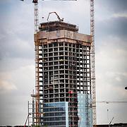 Cantiere del grattacielo della Regione Piemonte, firmato Fuksas, Torino 8, maggio 2014