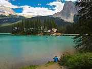 View of Emerald Lake Lodge; Yoho National Park, near Golden, British Columbia, Canada.