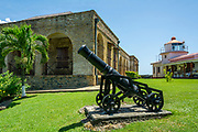 Historic Fort King George on Tobago island, Trinidad and Tobago.