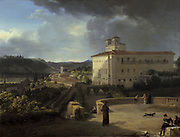 View of the Villa Medici Rome' 1815.  Nicolas Antoine Taunay (1775-1830) French painter. Oil on canvas.