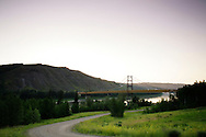 © 2008 Randy Vanderveen, all rights reserved.Grande Prairie, Alberta.The Dunvegan Bridge, a landmark suspension bridge in Alberta, spans the Mighty Peace River on Highway 2 between Spirit River and Fairview. The Peace River divides the region known as the Peace Country in northern Alberta and British Columbia into two.