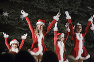 Pine Bush, NY - Members of the Justine Arlotta Dance Ensemble perform during the Pine Bush Festival of Lights on Main Street on the evening of Dec. 1, 2007.
