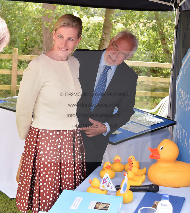 HRH the Countess of Wessex visits the Riverhill Regeneration project in Cobham Surrey on 9th July 2014.<br /> Picture shows:-The COUNTESS OF WESSEX AND SIR GERALD ACHER
