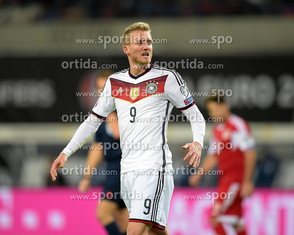 11.10.2015, Stadion Leipzig, Leipzig, GER, UEFA Euro Qualifikation, Deutschland vs Georgien, Gruppe D, im Bild Andre Schuerrle (GER #9) // during the UEFA EURO 2016 qualifier group D match between Germany and Georgia at the Stadion Leipzig in Leipzig, Germany on 2015/10/11. EXPA Pictures &copy; 2015, PhotoCredit: EXPA/ Eibner-Pressefoto/ Ostpix<br /> <br /> *****ATTENTION - OUT of GER*****