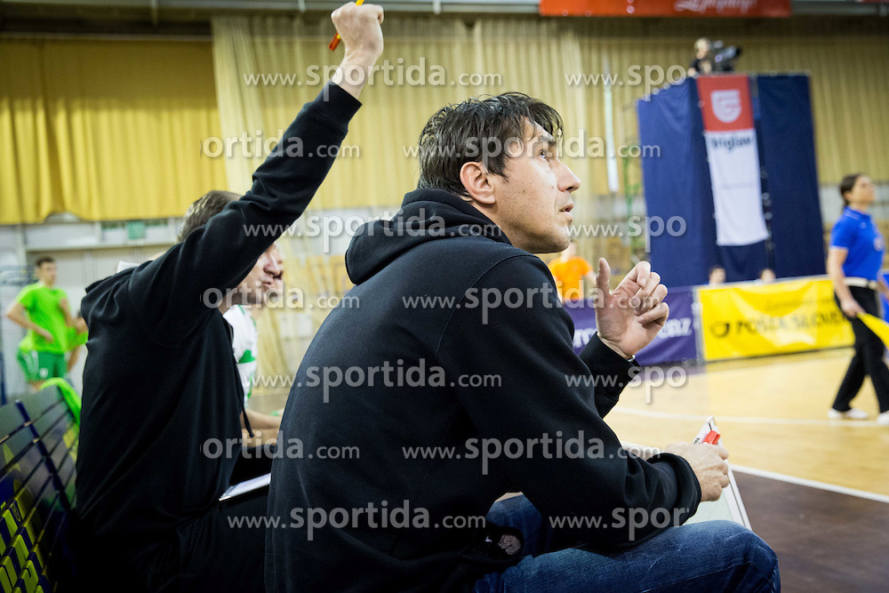 Dejan Fujs, head coach of Panvita Pomgrad during volleyball game between OK ACH Volley and OK Panvita Pomgrad in 1st final match of Slovenian National Championship 2013/14, on April 6, 2014 in Arena Tivoli, Ljubljana, Slovenia. Photo by Vid Ponikvar / Sportida