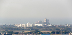 South Africa - Durban -  04 August 2020 -   Thick dark grey pollution smog  over the city of Durban. The heavily industrialised Durban is home to the largest concentration of petrochemical industries in the country. Picture Leon Lestrade/African News Agency(ANA).