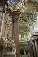 France, Paris (75), quartier Latin, le Pantheon // France, Paris, interior of the Pantheon