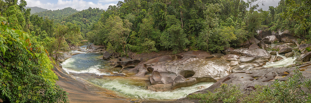Babinda Boulders located near the Atherton Tablelands, Queensland, Australia.