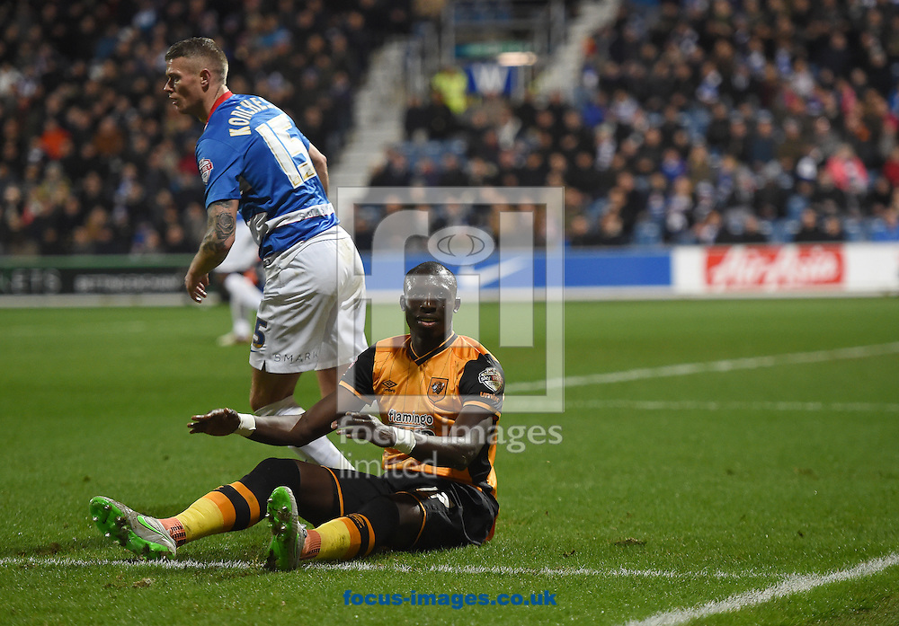 Hull City's Mohamed Diame appeals for a penalty during the Sky Bet Championship match at the Loftus Road Stadium, London<br /> Picture by Daniel Hambury/Focus Images Ltd +44 7813 022858<br /> 01/01/2016