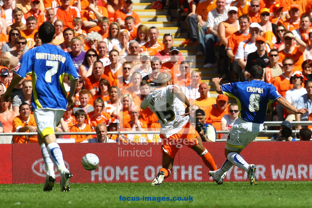 London - Saturday May 22nd 2010:  Michael Chopra of Cardiff opens the scoring and celebrates during the Coca Cola Championship Play Off Final match at Wembley Stadium, London. (Pic by Paul Chesterton/Focus Images)