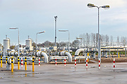 Nederland, Zevenaar, 29-11-2018Gastransportstation van de Gasunie . Transport services . Hier is conversie van L-gas markt in Duitsland mogelijk en kan H-gas geleverd worden uit diverse en bronnen en door diverse transportroutes, zowel uit Zuid-Europa en West-Europa. Foto: Flip Franssen