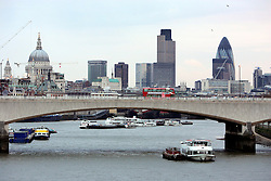 UK ENGLAND LONDON 27JAN06 - View of the City of London and London Bridge crossing the Thames River, seen from Hungerford Bridge, Embankment, central London...jre/Photo by Jiri Rezac..© Jiri Rezac 2006..Contact: +44 (0) 7050 110 417.Mobile:  +44 (0) 7801 337 683.Office:  +44 (0) 20 8968 9635..Email:   jiri@jirirezac.com.Web:    www.jirirezac.com