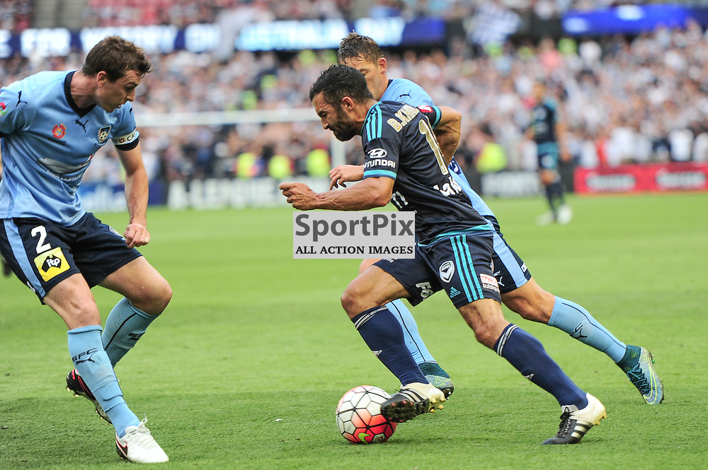Sebastian Ryall of Sydney FC, Fahid Ben Khalfallah of Melbourne Victory, Hyundai A-League (Australia Day) - January 26th 2016 - RD16 - Melbourne Victory FC v Sydney FC at Etihad Stadium, Docklands, Melbourne, Australia in a 1:0 win to Victory - © Mark Avellino | SportPix.org.uk