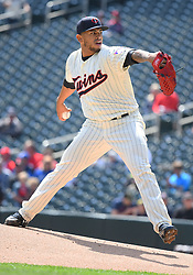 May 2, 2018 - Minneapolis, MN, U.S. - MINNEAPOLIS, MN - MAY 02: Minnesota Twins Pitcher Fernando Romero (77) delivers a pitch during a MLB game between the Minnesota Twins and Toronto Blue Jays on May 2, 2018 at Target Field in Minneapolis, MN.The Twins defeated the Blue Jays 4-0.(Photo by Nick Wosika/Icon Sportswire) (Credit Image: © Nick Wosika/Icon SMI via ZUMA Press)