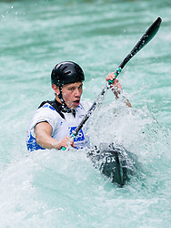 Simon Oven of Slovenia competes in 3 x K1 men at sprint teams race at European wildwater Canoeing Championships Soca 2013 on May 12, 2013 in Trnovo ob Soci, Soca river, Slovenia. (Photo By Vid Ponikvar / Sportida)