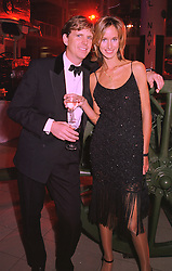 Restauranter MOGENS THOLSTRUP and LADY VICTORIA HERVEY, at a party in London on 31st January 1998.MEZ 37