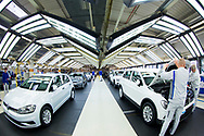 Produktion im VW Werk: &Uuml;berpr&uuml;fung der fertigen Autos im Lichttunnel / 090317<br /> <br /> <br /> ***Production of VW cars such as Golf and E Golf at the factory in Wolfsburg, Germany on March 9, 2017***