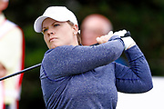 Lydia Hall tees off from the 2nd during the Ricoh Women's British Open golf tournament at Royal Lytham and St Annes Golf Club, Lytham Saint Annes, United Kingdom on 4 August 2018. Picture by Simon Davies.