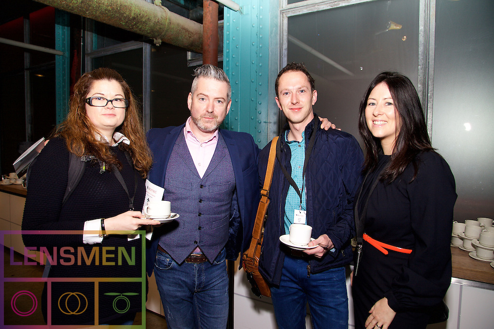 Lara Quinn from Core Media, Doug Farrell from DMG Media Ireland, Justin Ronan from MEC, and Michelle O'Keefe from Electric Ireland.