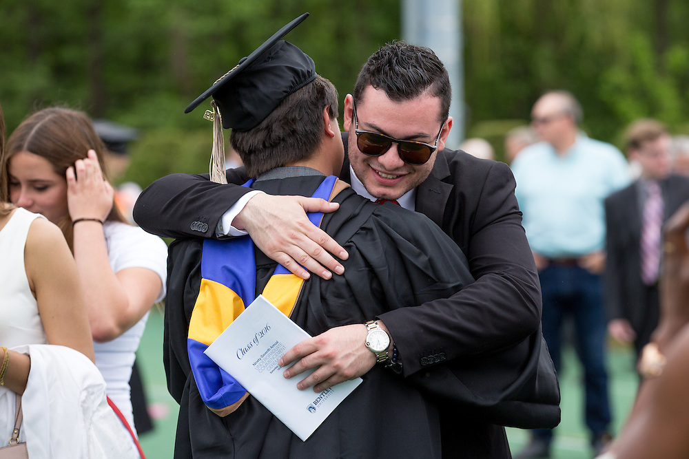 Waltham, MA 05/21/2016<br /> Bentley University Ungergraduate Commencement<br /> Alex Jones / www.alexjonesphoto.com