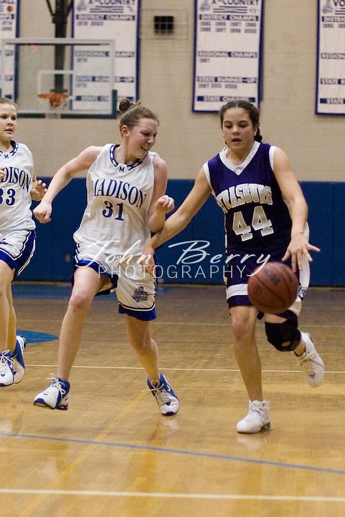 MCHS JV Girls Basketball.vs Strasburg.January 26, 2006