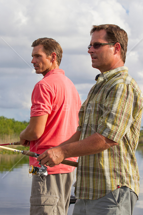 two men fishing together in The Florida Everglades