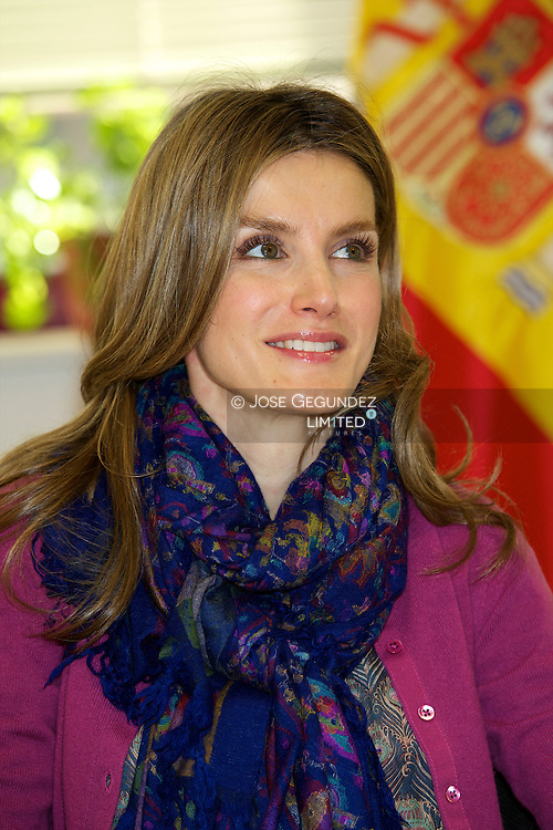 "Princess Letizia attends the Visit the Integrated Training Center ""Professor Rau?l Va?zquez in Madrid"