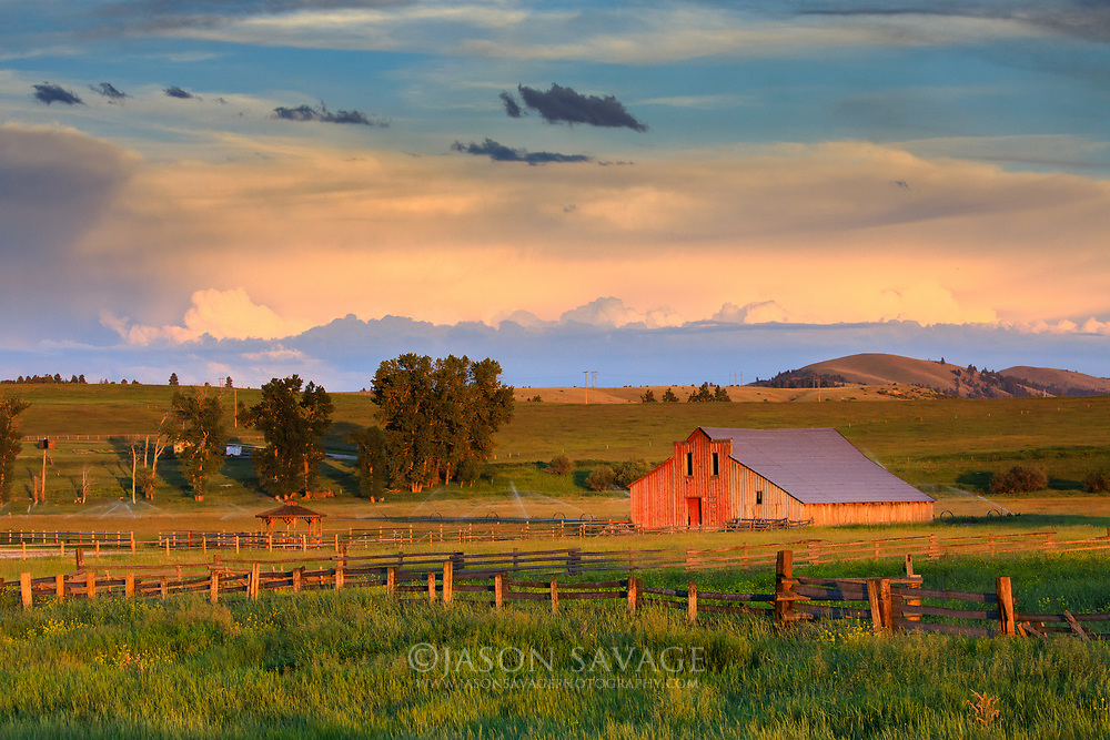 Red Barn in Gold Creek, Montana.